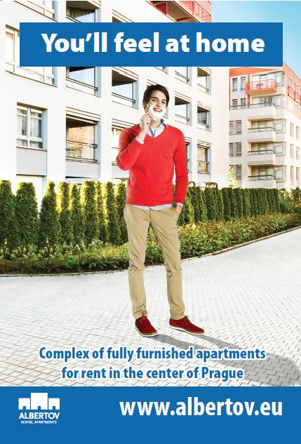 Plakát Albertov - student jako doma