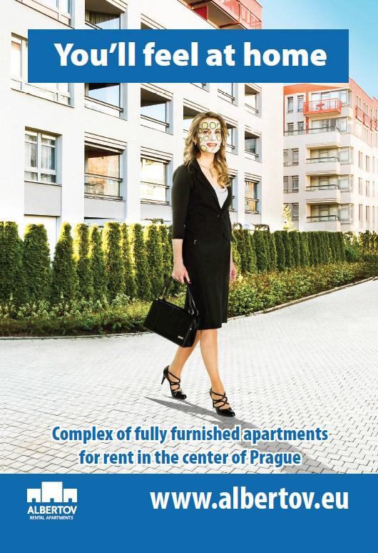 Plakát pro Albertov - managerka jako doma